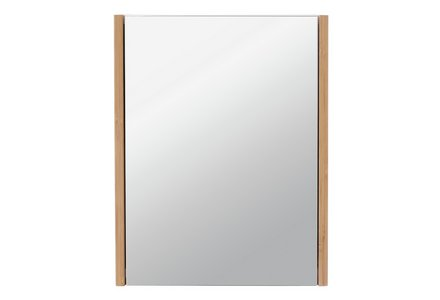 Collection 1 Door Mirrored Bamboo Cabinet - Two Tone