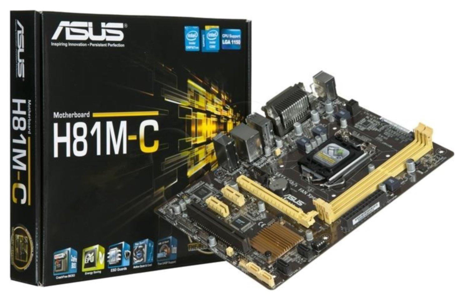 Asus Asus H81 MC Intel LGA1150 Micro ATX Motherboard.