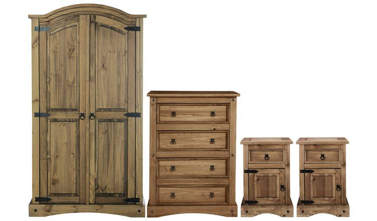 Argos Home Puerto Rico 4 Piece Wardrobe Set - Dark Pine