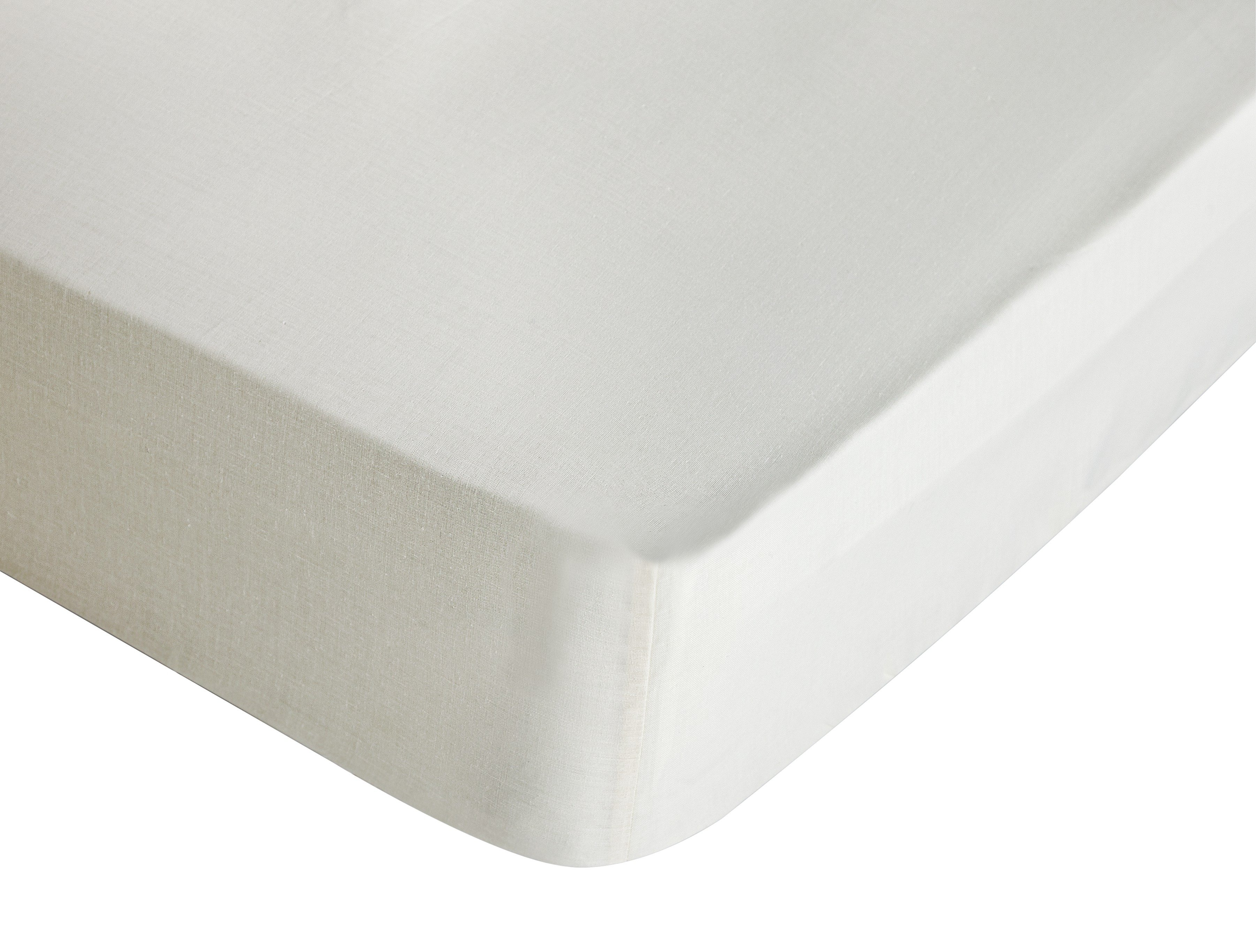 colourmatch  cotton cream fitted  sheet  superking