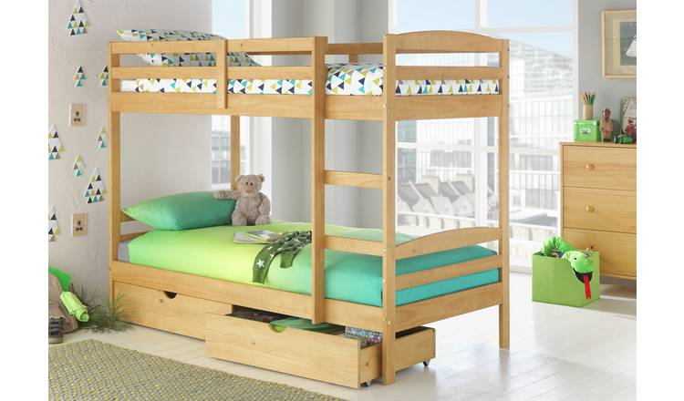 new concept 030d2 e9674 Buy Argos Home Josie Pine Bunk Bed with Drawers | Kids beds | Argos