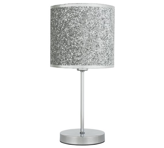 Home sparkling table lamp silver