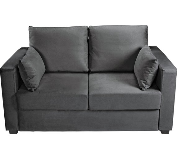 Buy HOME New Apartment 2 Seater Fabric Sofa Bed - Charcoal at ...