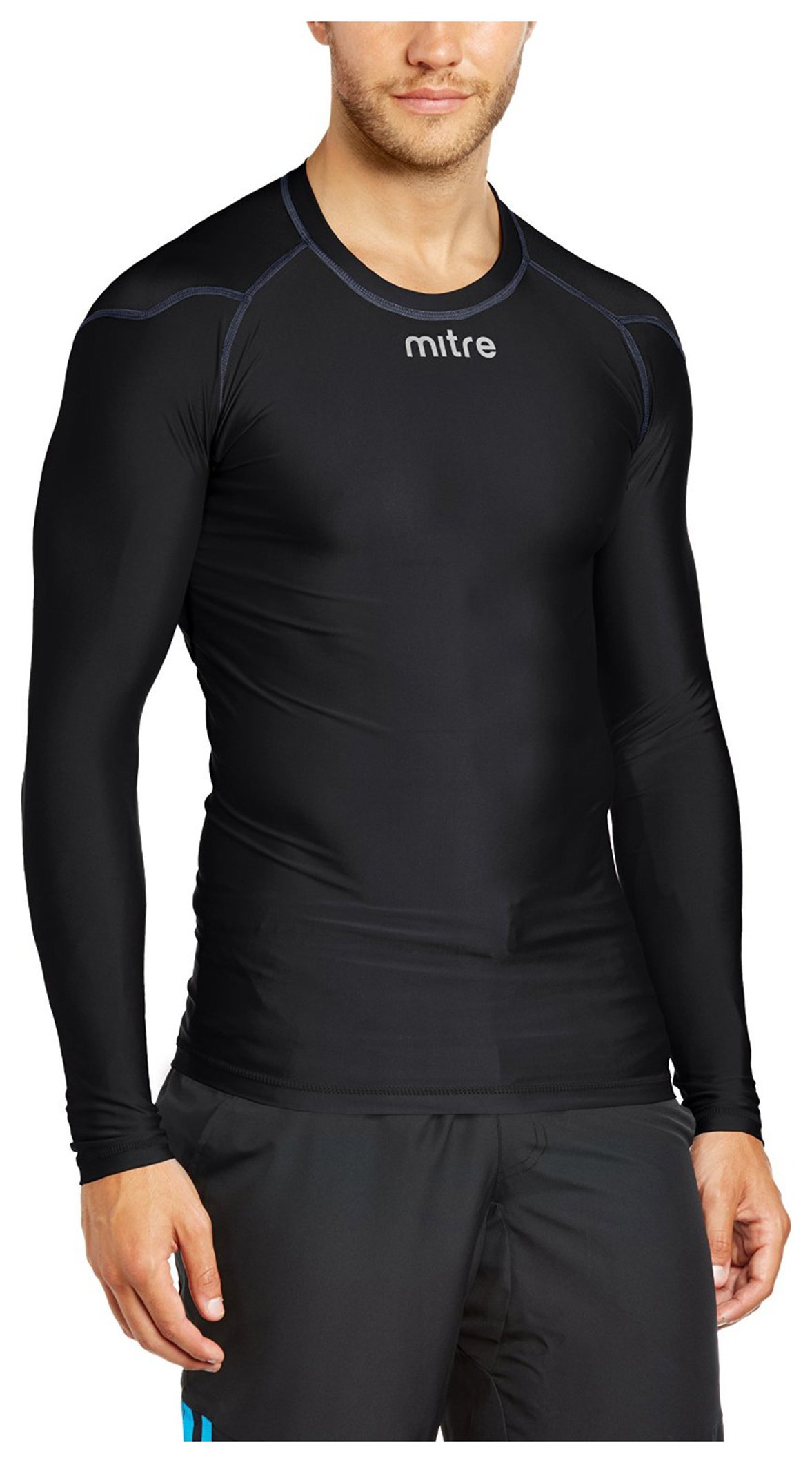Image of Mitre - Base Layer Jersey Black - Large Youth