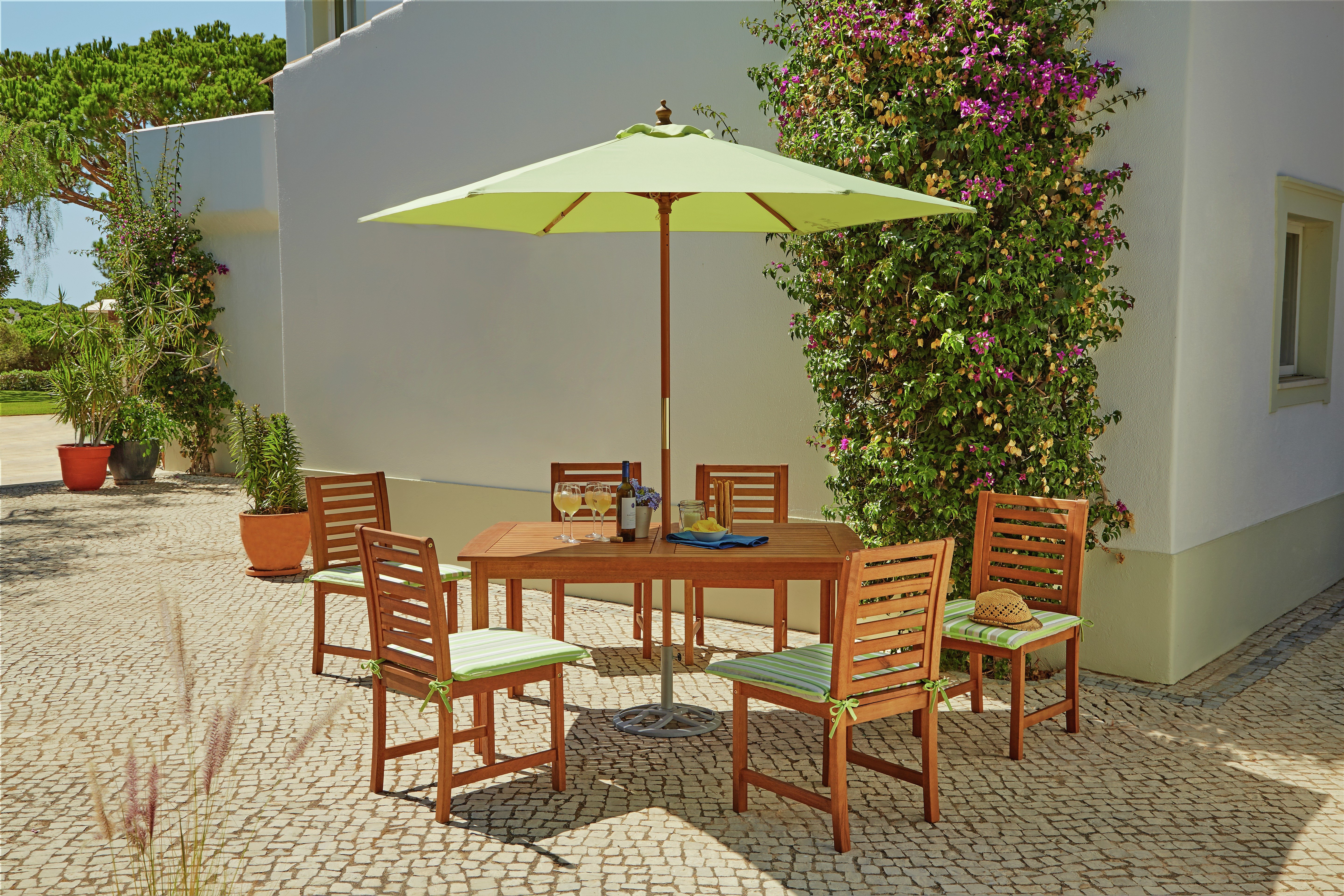 Garden Furniture Sets Uk buy collection madison 6 seater wooden patio set - green at argos