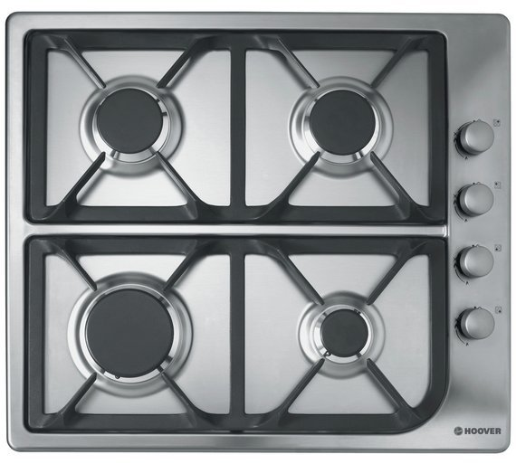 Image of Hoover - HGL64SCX - Gas Hob- Stainless Steel