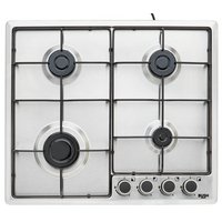 Bush - BPGH60X Cast Iron - Gas Hob - Stainless Steel