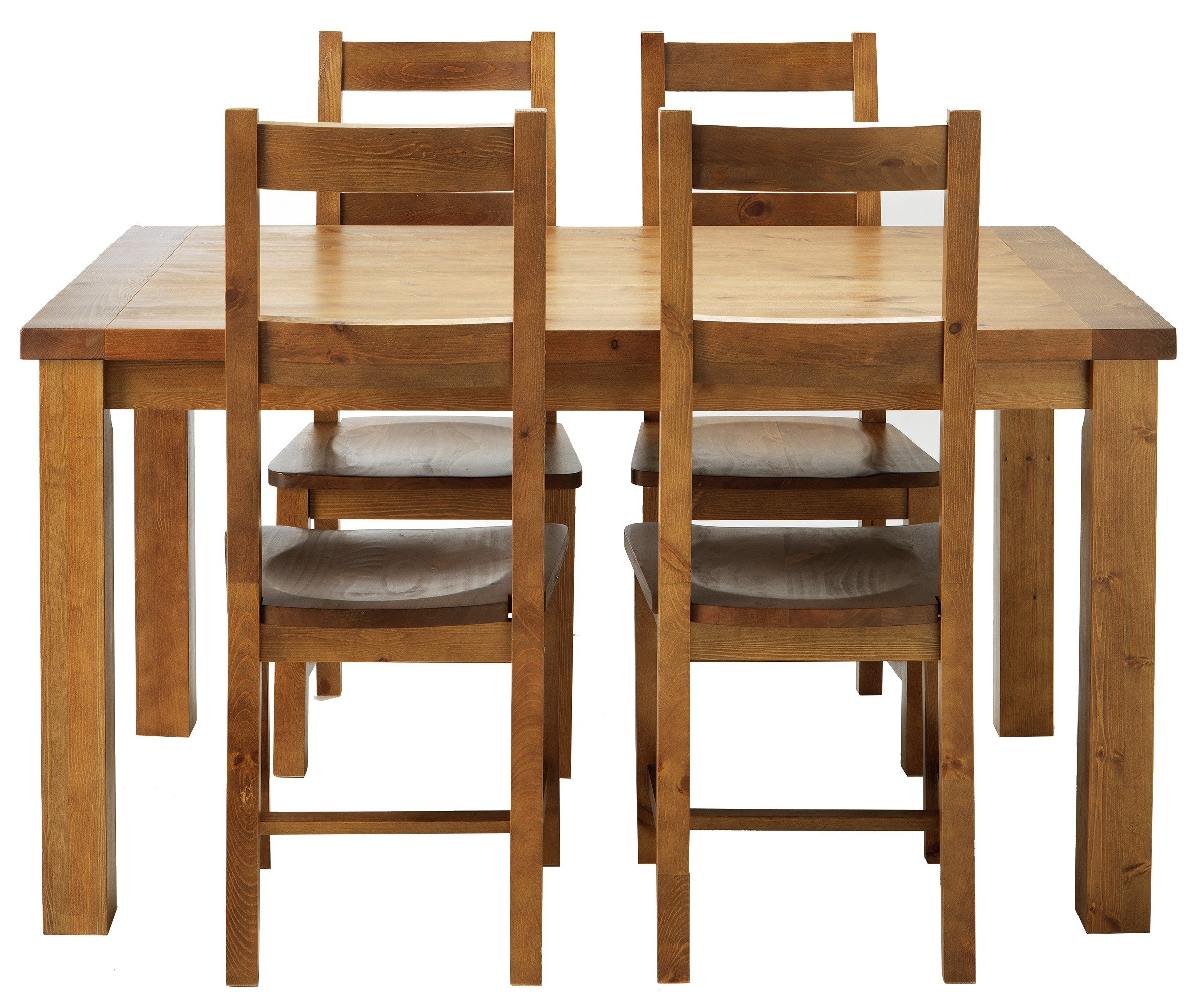 Buy Collection Arizona Solid Pine Dining Table Amp 4 Chairs