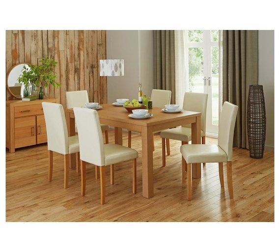 Buy HOME Pemberton Oak Veneer Dining Table 6 Chairs