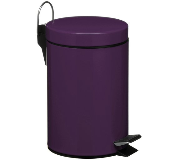 3 litre pedal bin with plastic inner purple4618065
