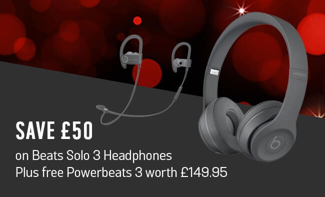 Save £50 on Beats Solo 3 Headphones. Plus free Powerbeats 3 worth £149.95.