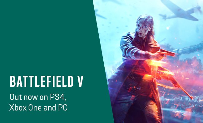 Battlefield V out now on PS4, Xbox One and PC.