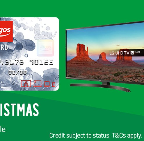 Spread the cost of Christmas. Representative 29.9% APR variable. Credit subject to status. T&Cs apply.