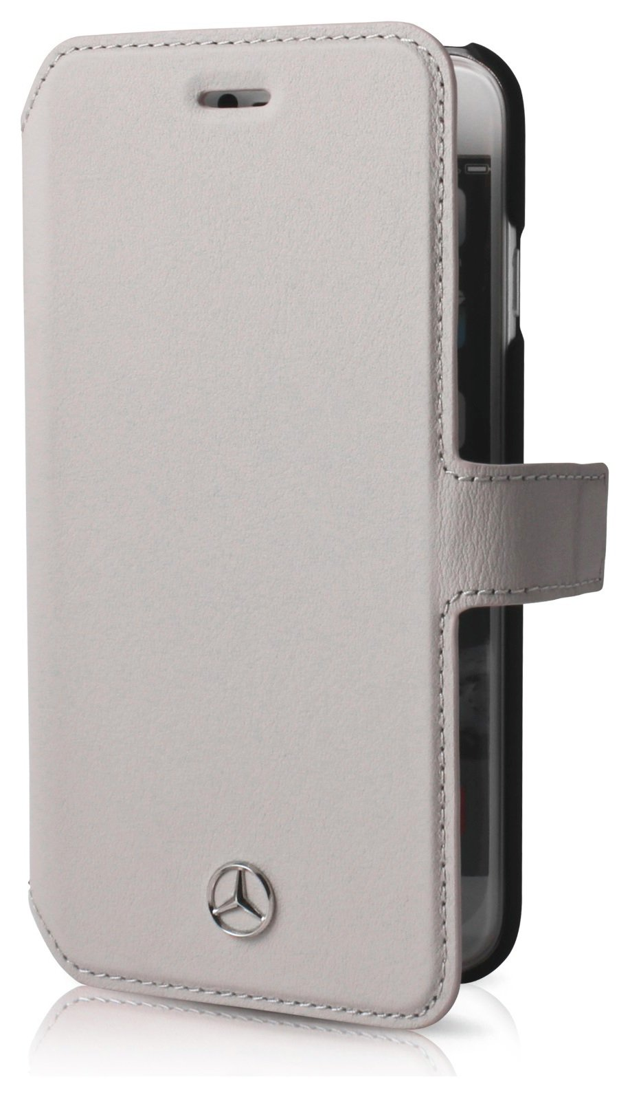 Mercedes iPhone 6/6s Leather Case - Grey.