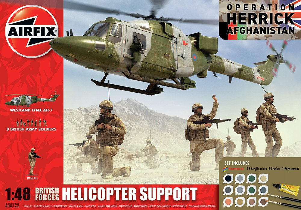 Image of Airfix - British Forces Helicopter Support Group 1:48 Model