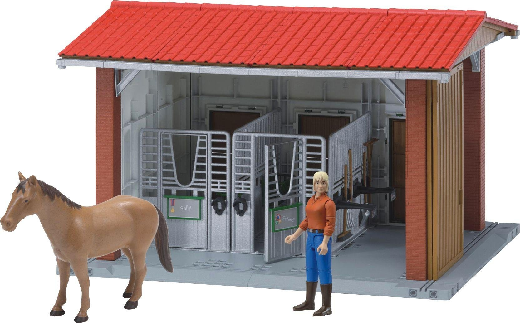 Image of Bruder 62520 BWorld Horse and Stable Playset.