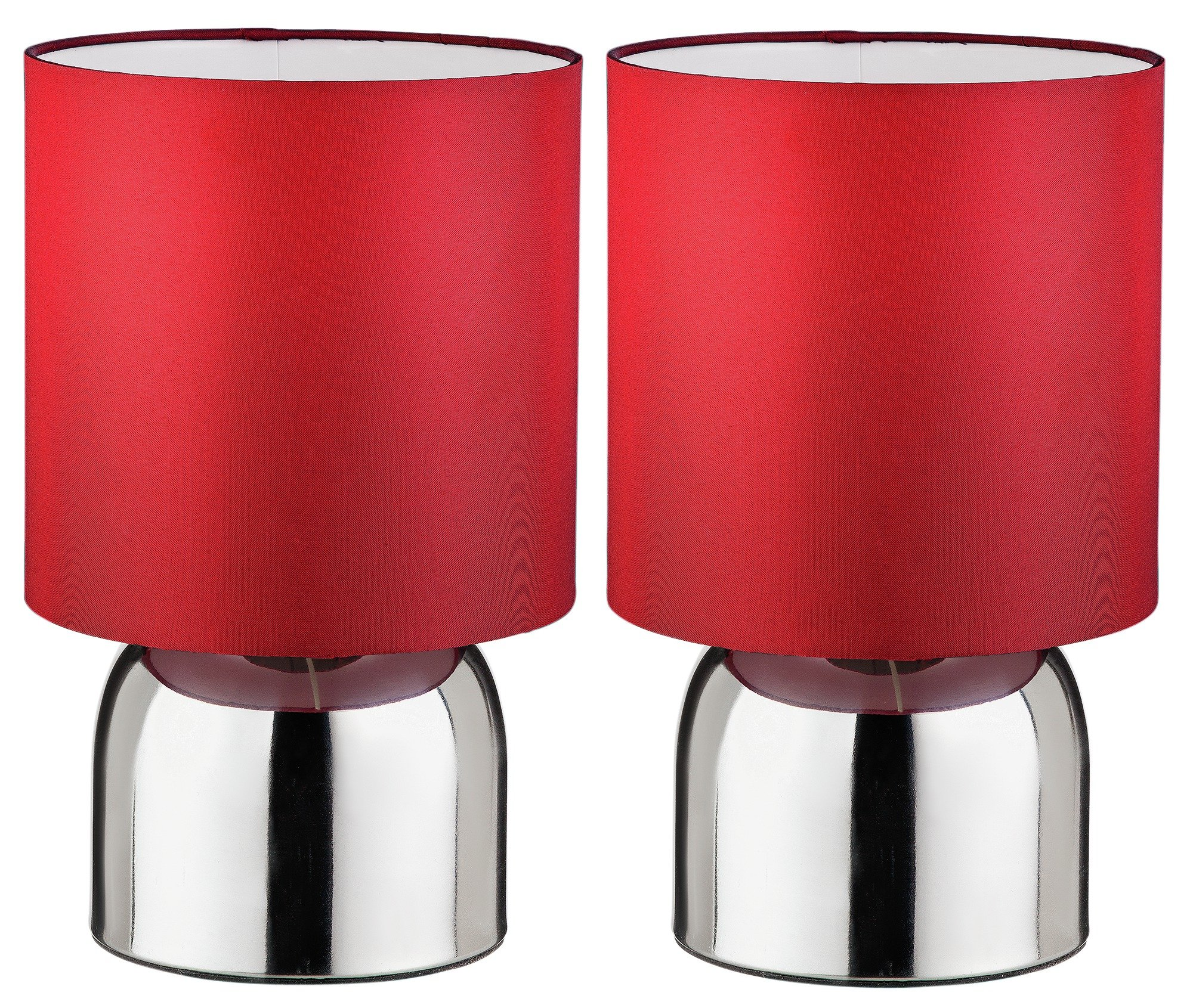 Image of ColourMatch - Pair of Touch - Table Lamps - Poppy Red
