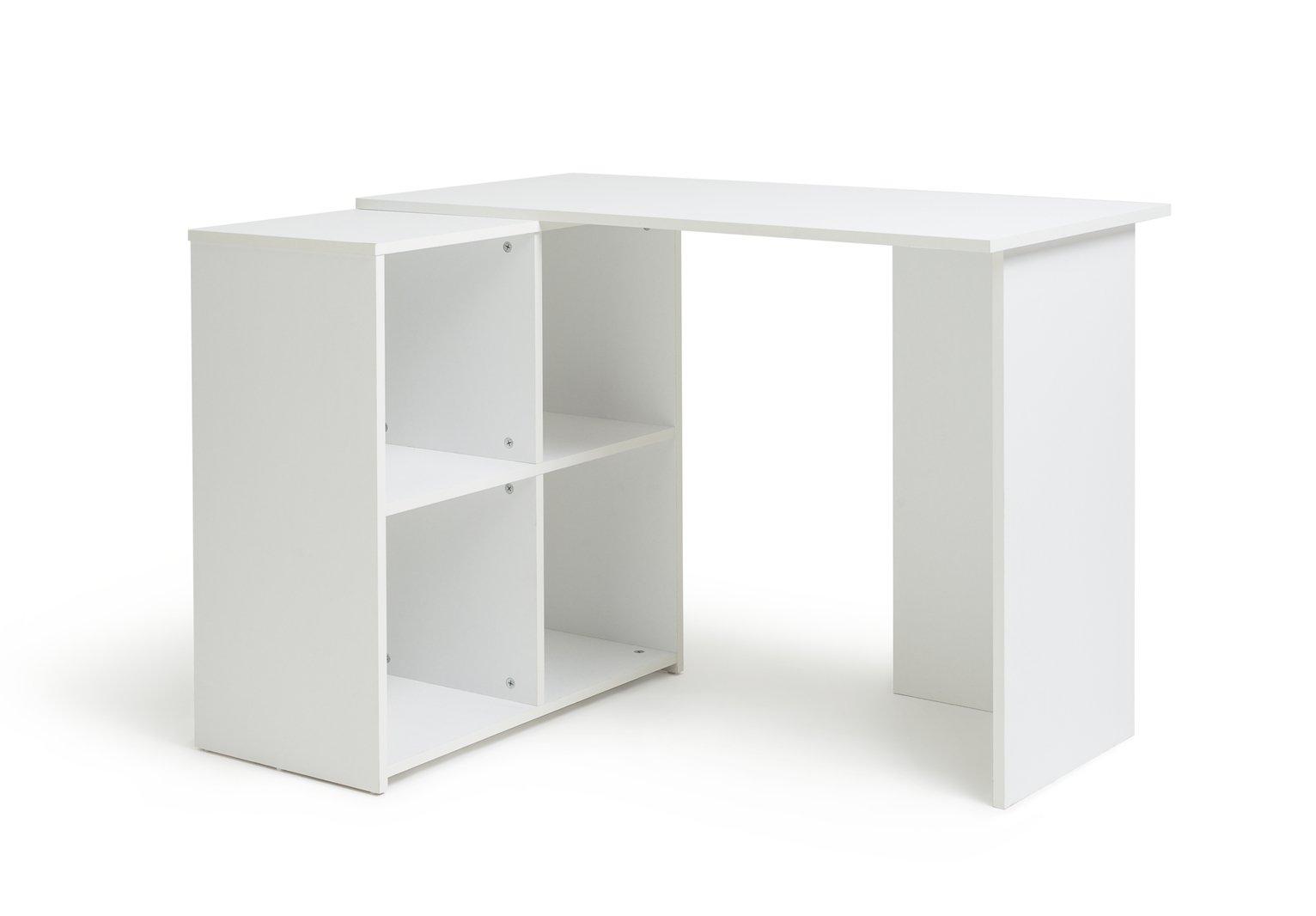 white corner office desk. home calgary corner office desk white f
