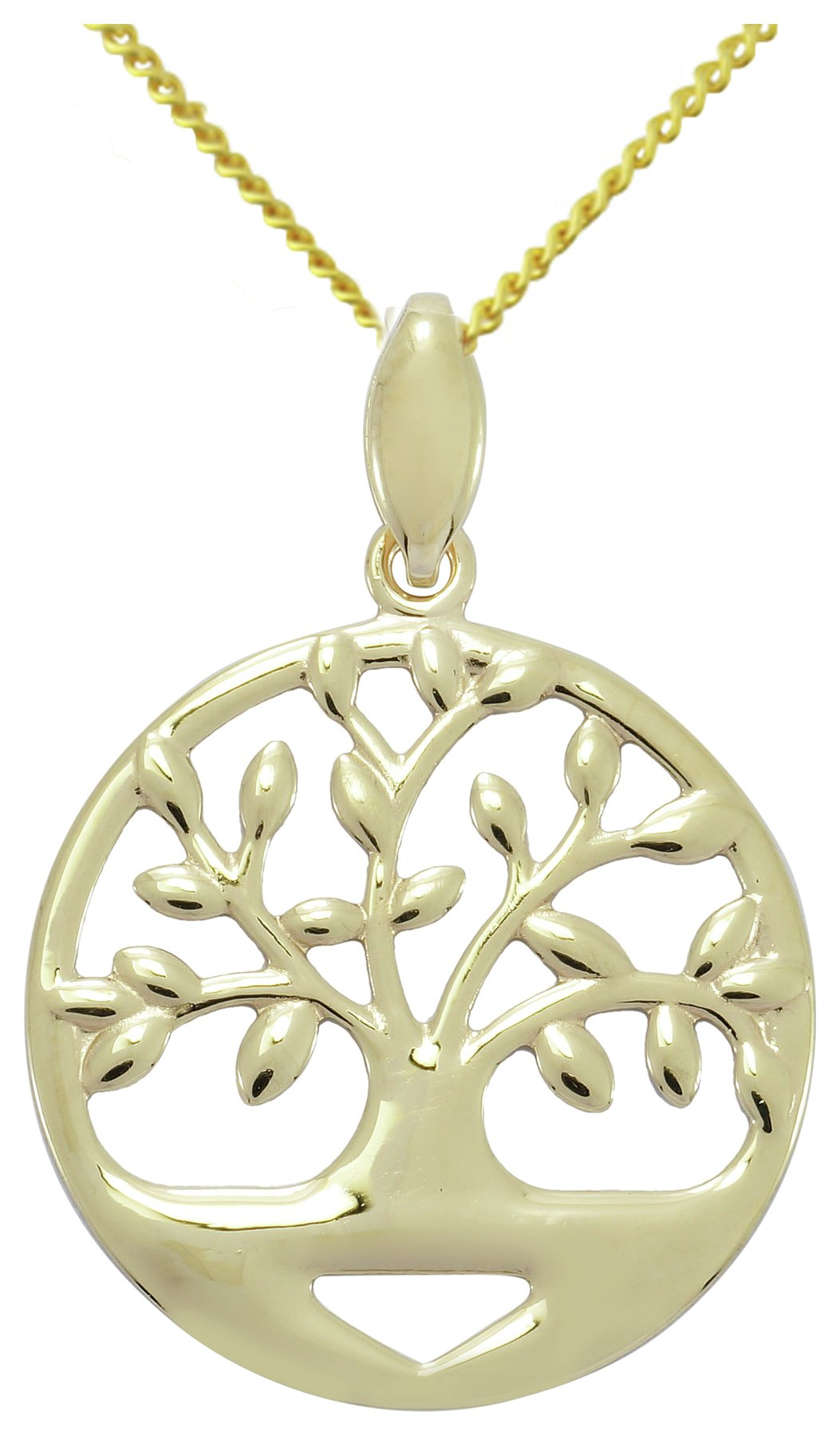 Image of 9 Carat Gold - Family Tree Circle Pendant.