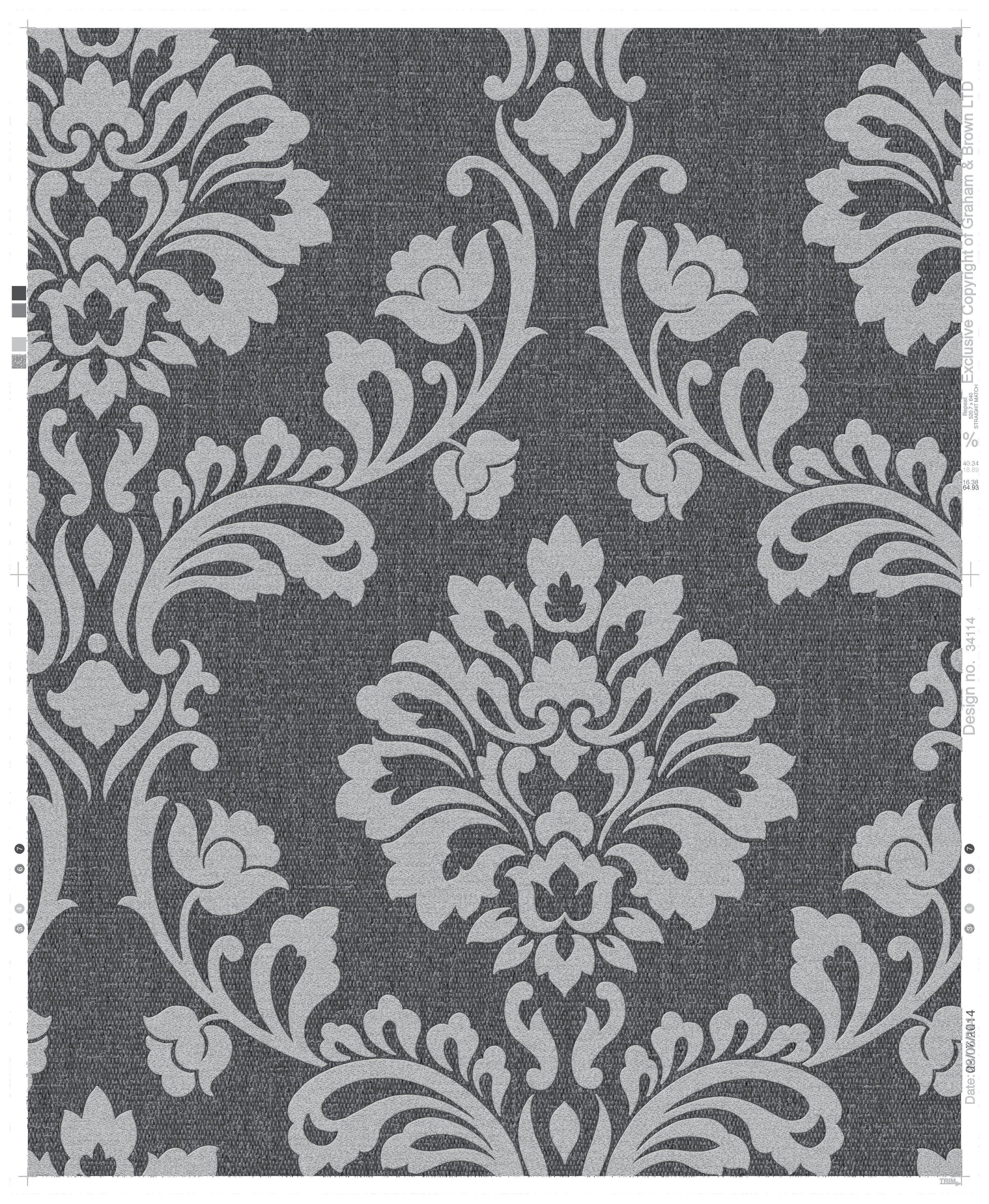 Superfresco Colours Aurora Wallpaper - Black and Grey.