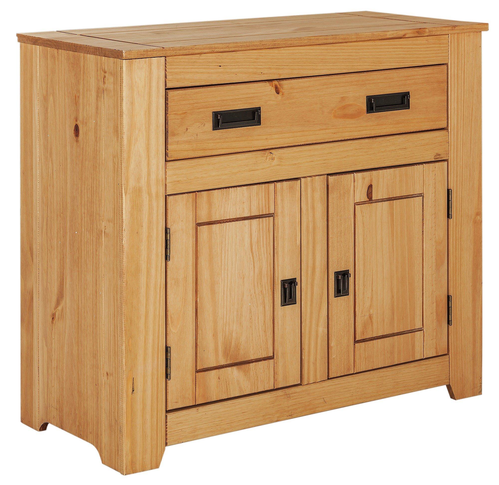 'Penton 2 Door 1 Drawer Solid Pine Sideboard