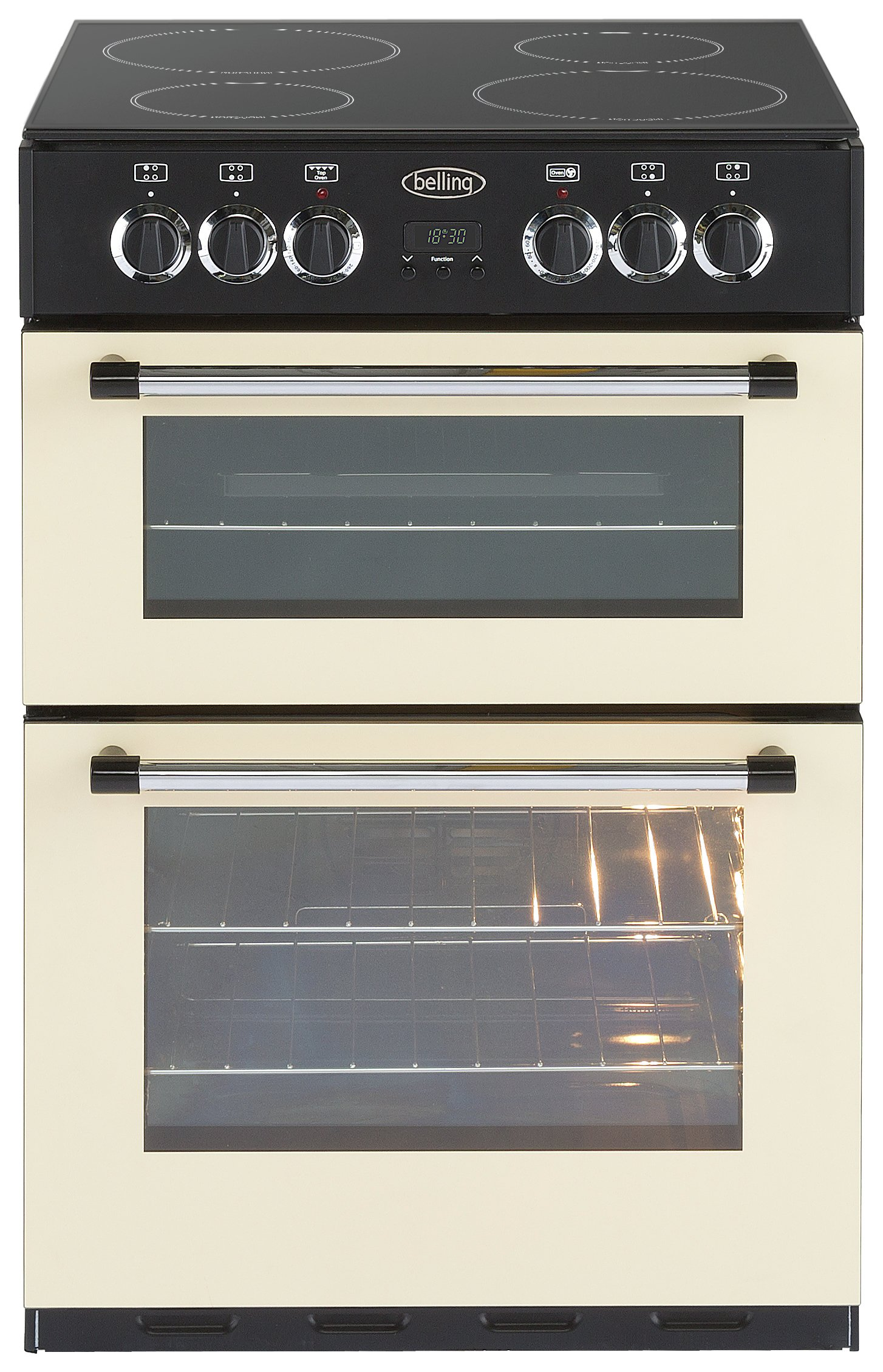 Image of Belling - Classic 60E Double - Electric Cooker - Cream