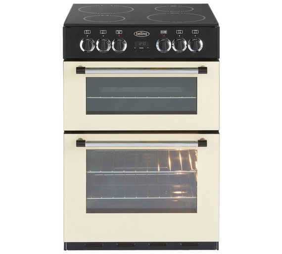 buy belling classic 60e double electric cooker cream at. Black Bedroom Furniture Sets. Home Design Ideas