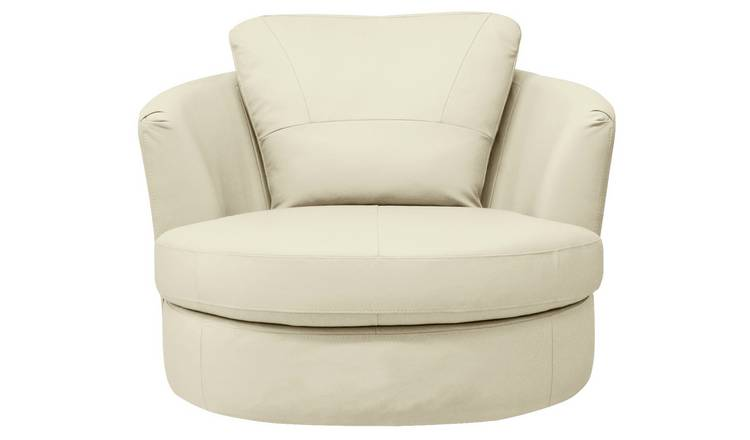 Surprising Buy Argos Home Milano Leather Swivel Chair Ivory Armchairs And Chairs Argos Gamerscity Chair Design For Home Gamerscityorg