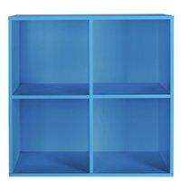 HOME Phoenix 4 Cube Storage Unit - Blue