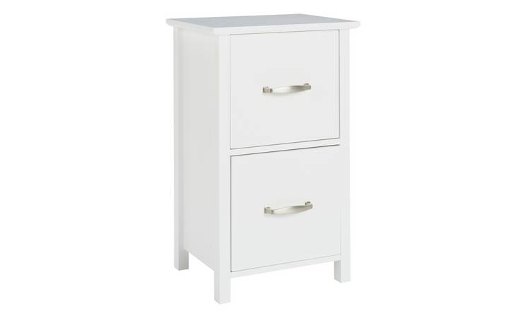 Argos Home Tongue & Groove 2 Drawer Unit - White