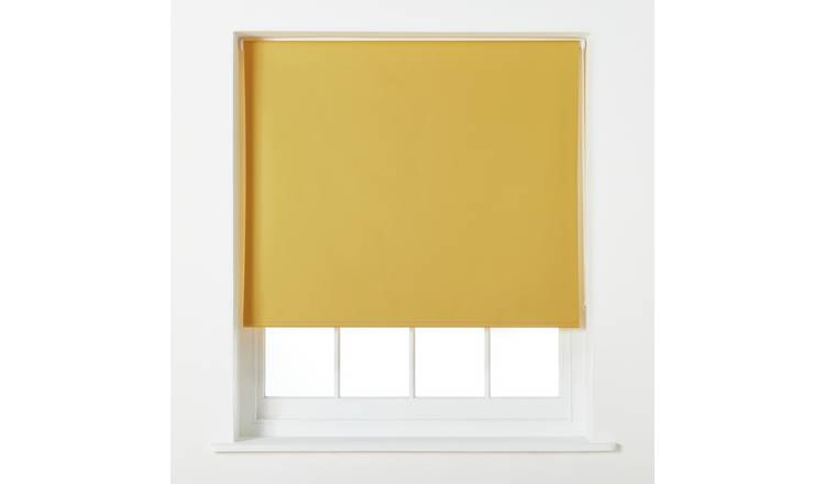 Argos Home Blackout Roller Blind - 6ft - Mustard