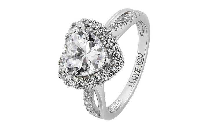 Revere Sterling Silver Cubic Zirconia Twist Shoulder Ring -R