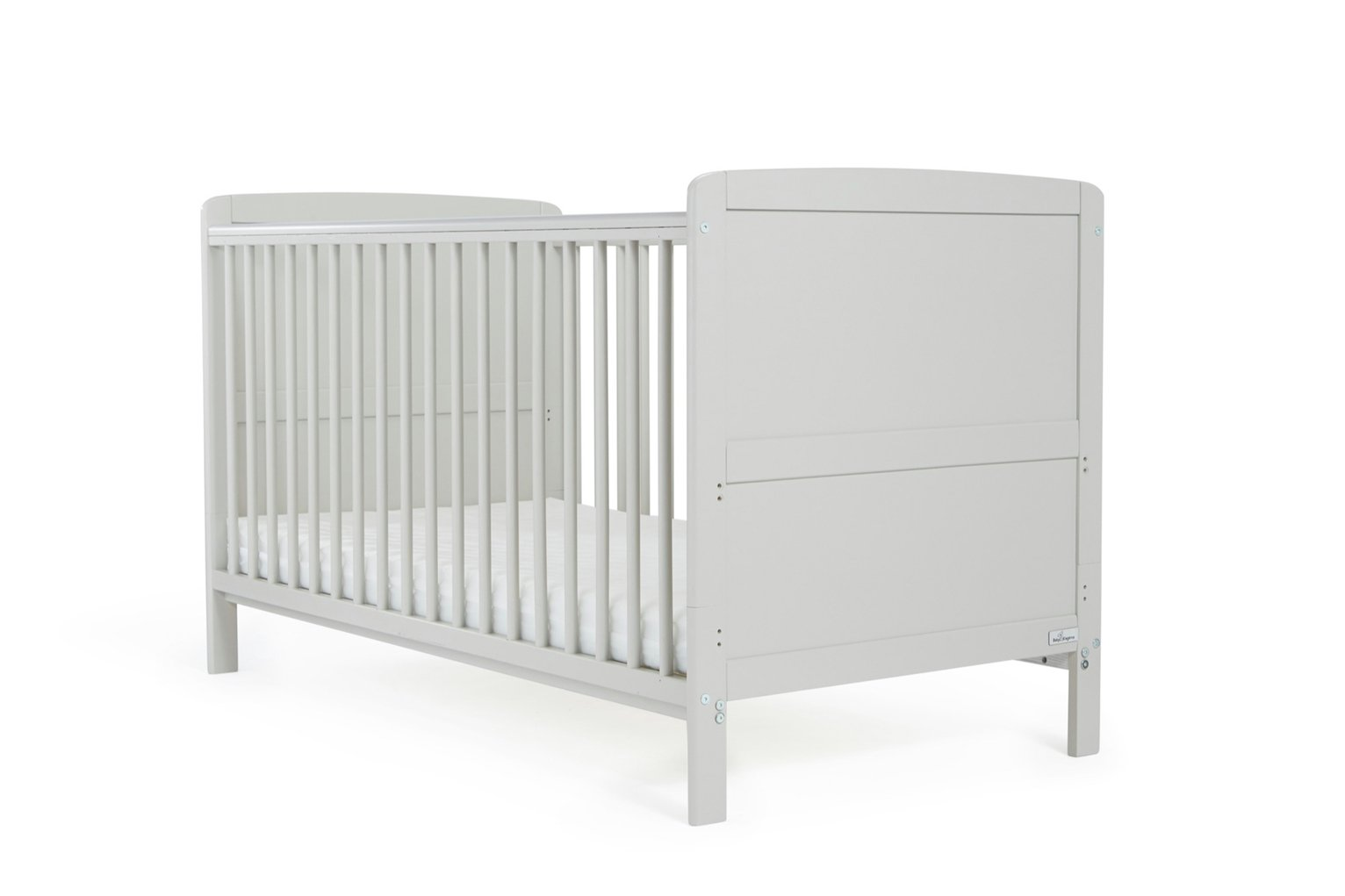 Baby Elegance Travis Baby Cot Bed with Mattress - Grey