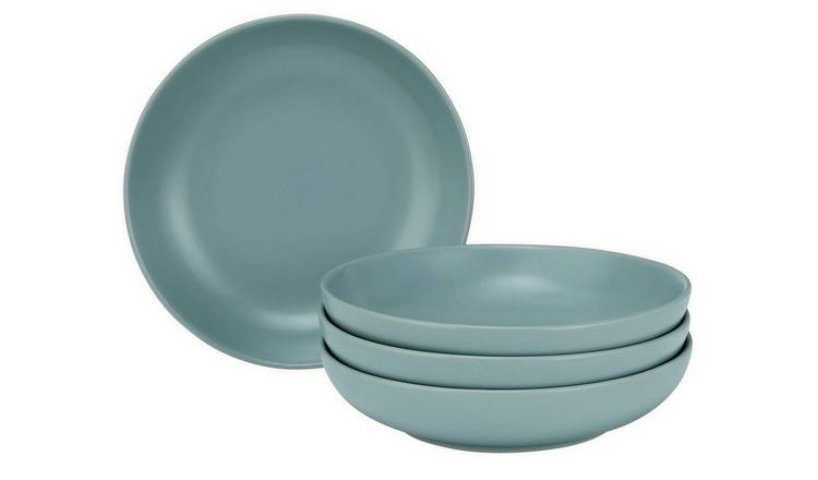 Argos Home Brights Set of 4 Pasta Bowls - Matt Teal