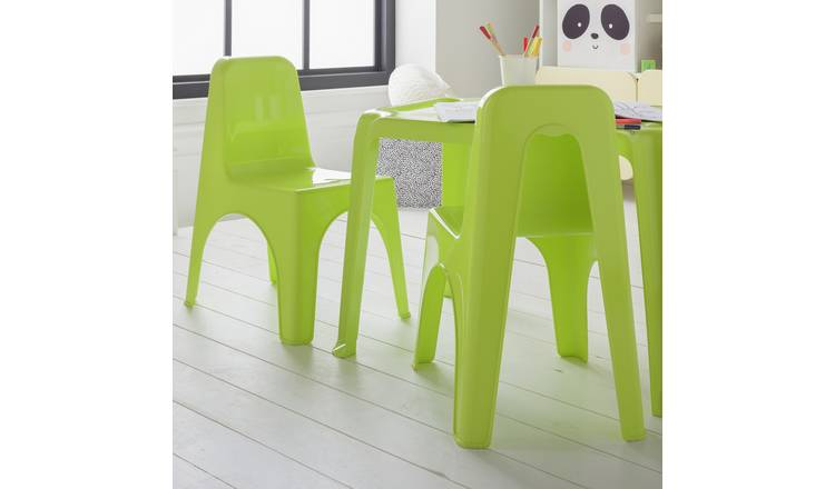 Argos Home Pair of Lime of Plastic Chairs