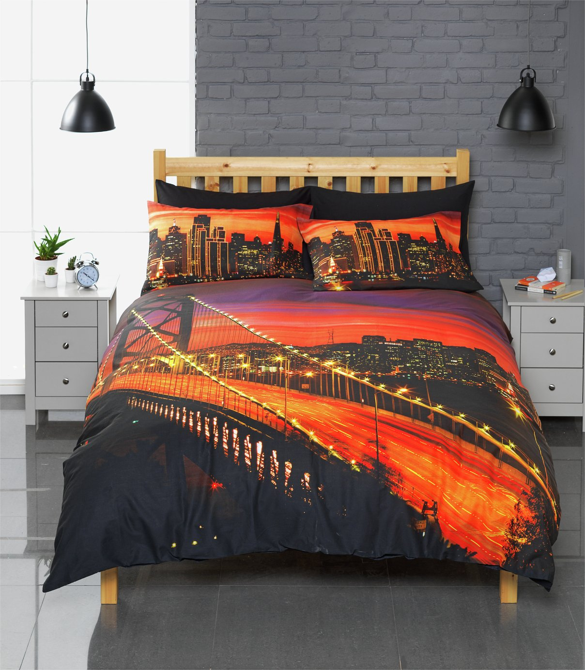 home  oakland bay bridge  bedding set  single