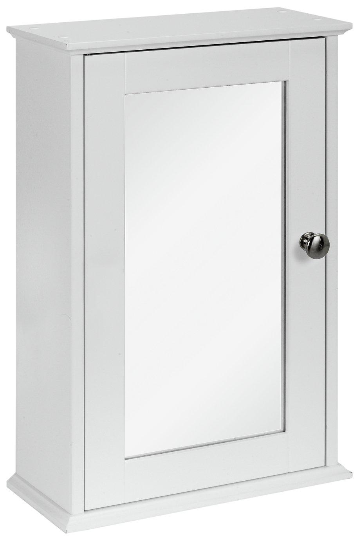 home 1 door mirror core cabinet  white.