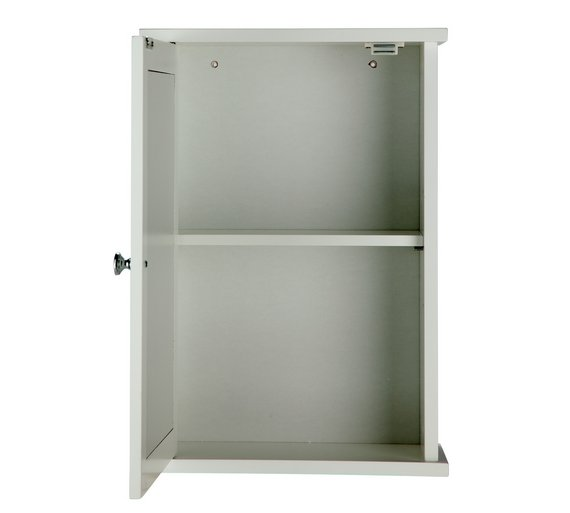 Buy HOME 1 Door Mirrored Classic Core Cabinet - White