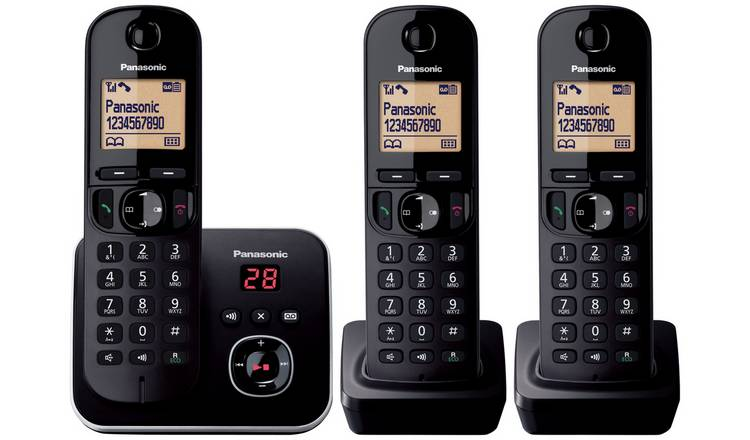 Panasonic KXTG6803 Cordless Telephone with Answer M/c-Triple