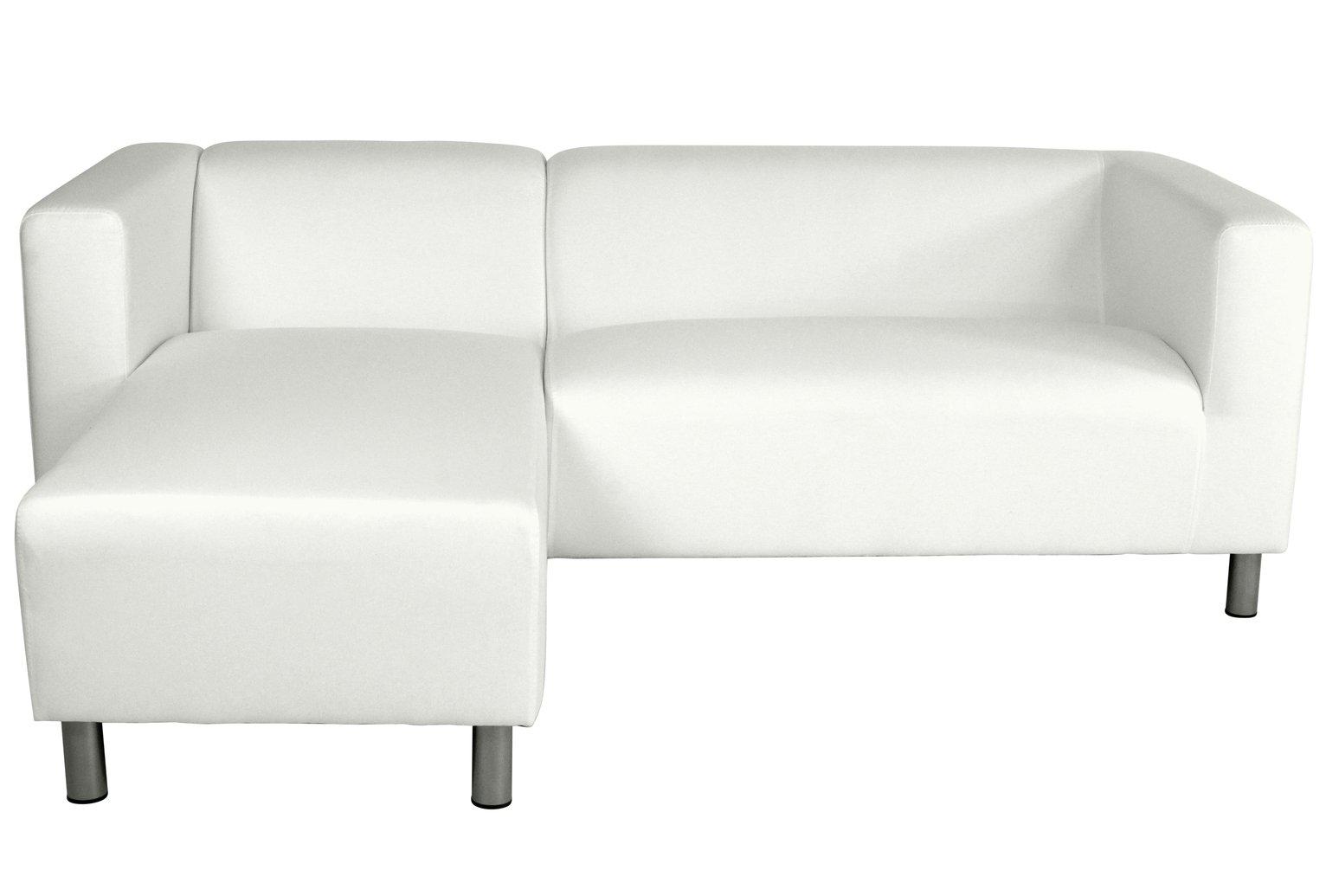 Argos Home Moda Left Corner Fabric Sofa - White