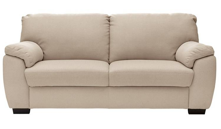 Argos Home Milano 3 Seater Fabric Sofa - Beige