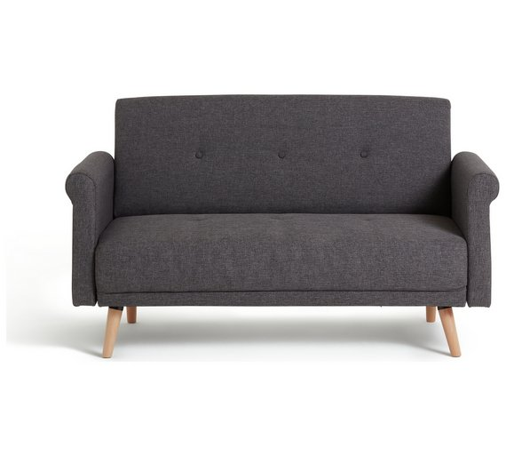 Buy Hygena Evie 2 Seater Fabric Sofa in a Box - Charcoal | Sofas | on chaise sofa sleeper, chaise recliner chair, chaise furniture,