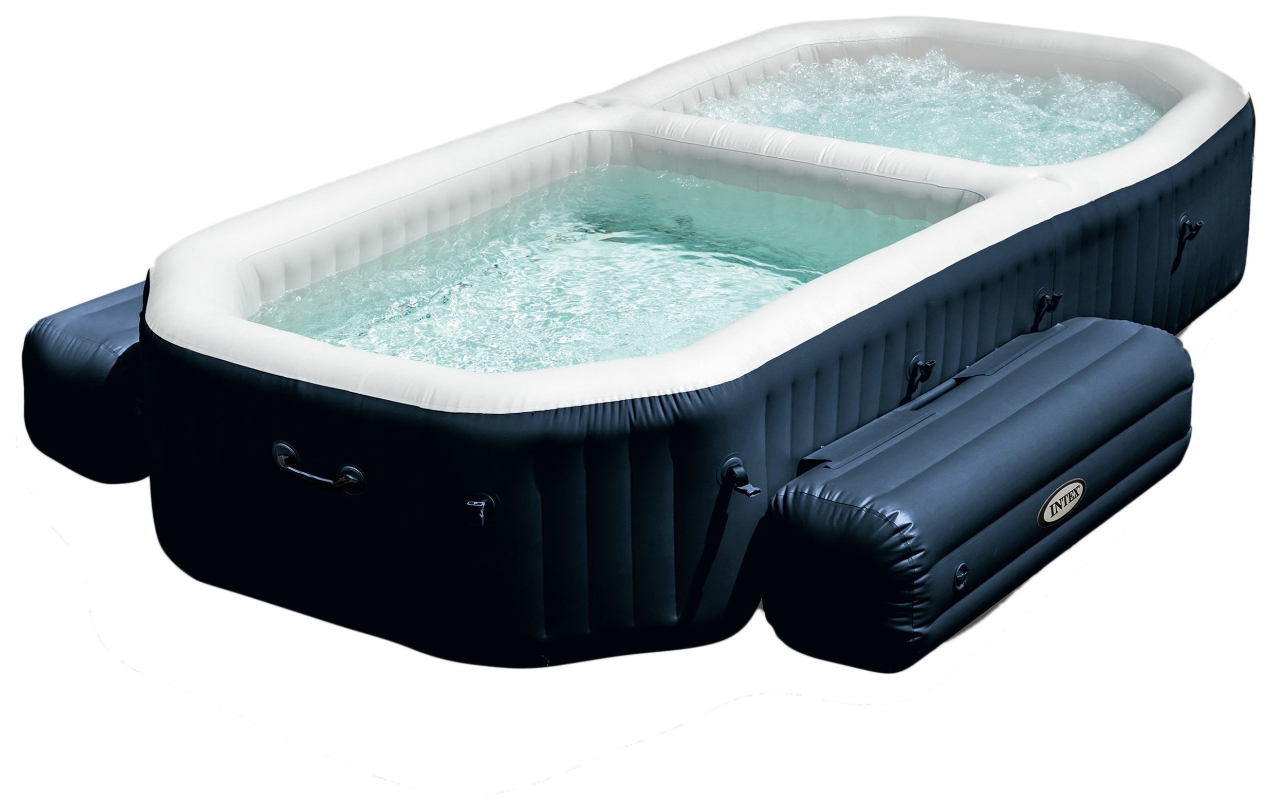 intex pure spa with plunge pool 1 octer. Black Bedroom Furniture Sets. Home Design Ideas