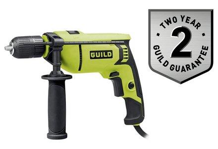 Guild 13mm Keyless Corded Hammer Drill - 750W.