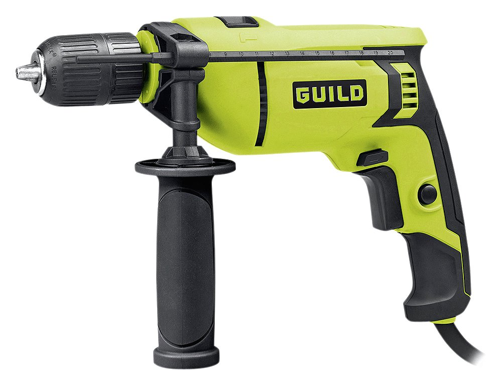 Image of Guild - 13mm Keyless Corded Hammer Drill - 750W