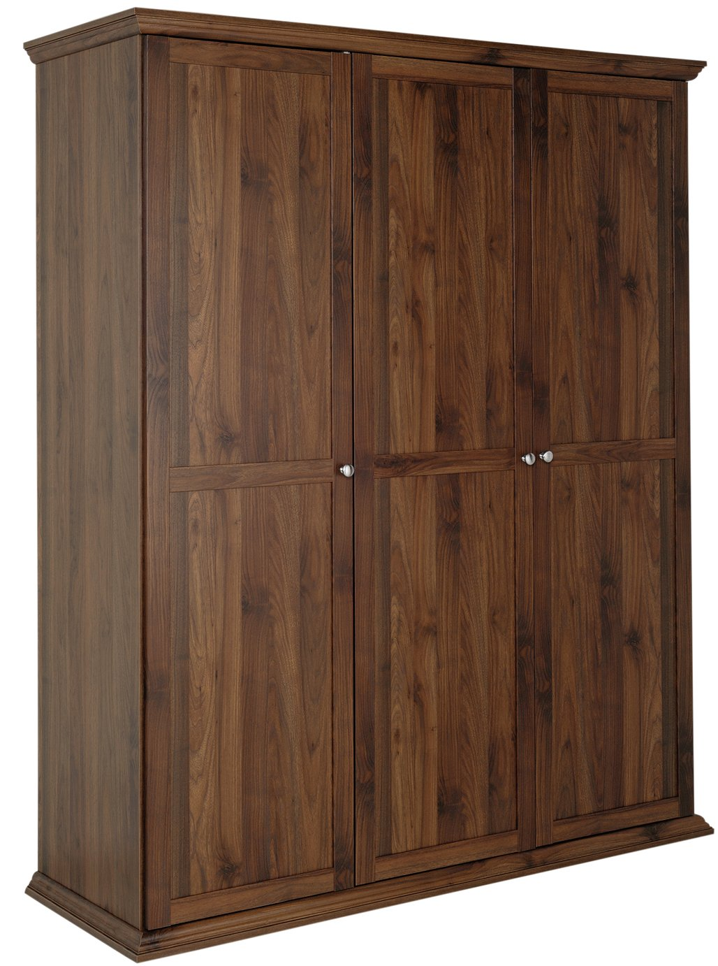 Argos Home Canterbury 3 Door Wardrobe - Walnut Effect