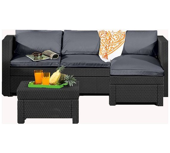 Alexandria Rattan Corner Sofa Reviews: Keter Oxford Rattan Effect Outdoor Corner Sofa