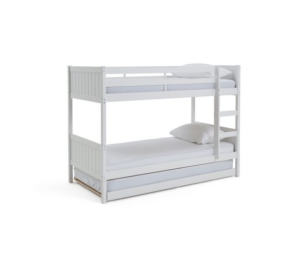 Buy Argos Home Detachable White Bunk Bed Trundle 2 Mattresses