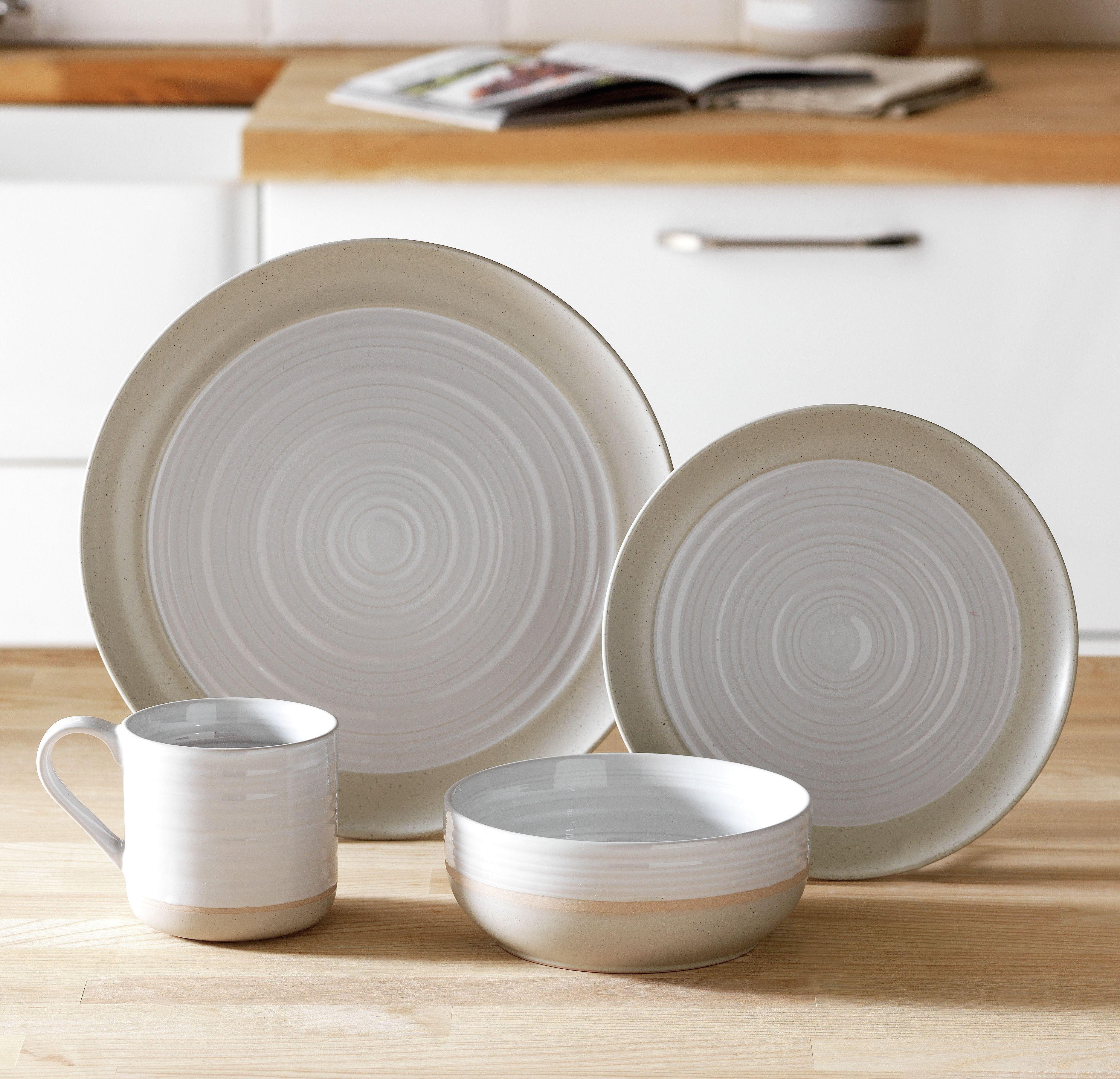 Heart of House - Purton 16 Piece Stoneware Dinner Set - White