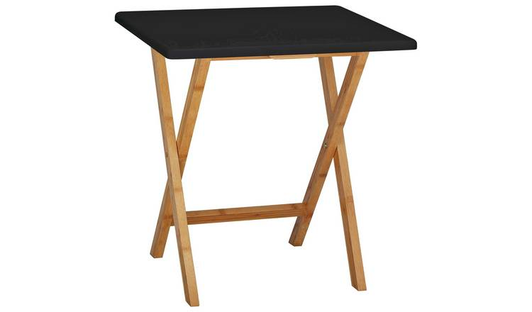 Habitat Drew Folding Bamboo 2 Seater Table - Black